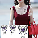Mysterious Attractive Violet Butterfly Tattoo Stickers Temporary Tattoos(1 Pc)