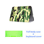 Fashion Camouflage Full Body Case with Silicone Keyboard Cover for Macbook Retina 13.3
