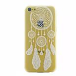patrón de campanilla blanca ultrafina caso duro para el iphone 5c