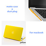 Solid Colors Matte Full Body Hard Case with Dust Plug for Macbook Air 13.3