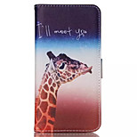 Giraffe Pattern PU Leather Double-Sided  Phone Case For iPhone 6 Plus