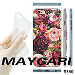 MAYCARI® Rose Garden Pattern TPU Soft Transparent Back Case for iPhone 6/6S