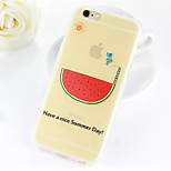 Sunny Hippo Watermelon Pattern TPU Soft Case for iPhone 6