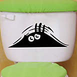 Wall Stickers Wall Decals Style Eye Toilet Bathroom Decoration PVC Wall Stickers