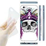 Strange Costumes Skulls TPU Soft Back Case for iPhone 6