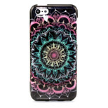 Datura Flowers Pattern Glitter TPU Cell Phone Soft Shell For iPhone 5C