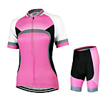 ARSUXEO Women's Short Sleeve Cycling Jerseys Suits