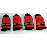 Red/Black Nylon/PU Leather/Polar Fleece Pet Shoes For Dogs