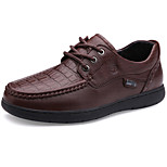 Men's Shoes Casual Leather Oxfords Brown/Orange/Black/Khaki