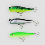 90mm13.5g Big Popper Hard Bait Fishing Lure with 6# Hooks