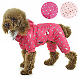 PETSOO Winter Pet Clothes Bear & Dotted Printing Flannel hat four-legged Dog Coat