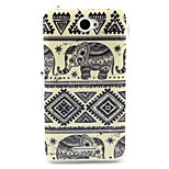 The blue and white porcelain elephant  Pattern TPU Soft Case for Sony E4