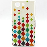 Colorful Diamond Pattern TPU Material Soft Phone Case for Sony Z3 Mini