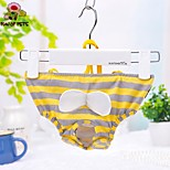 FUN OF PETS® Yellow Grey Strip Physical Pant for Pet Dogs(Assorted Sizes)