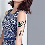 5Pcs Waterproof Luminous Marine Pirate Anchor Pattern Temporary Body Art Tattoo Sticker