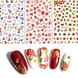 3PCS Water Transfer Printing Nail Stickers 123#