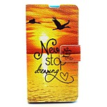 Sunrise Pattern PU Leather Full Body Case with Card Slot and Stand for Nokia 640