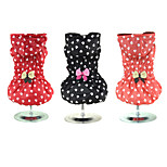 Heart-shaped printing Butterfly Winter Dog Clothes