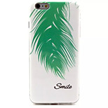 Feather Pattern IMD + TPU Phone Case For iPhone 6