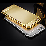 Luxury Plated Wavy Edge Metal Frame Adds Acrylic Wiredrawing Cover Phone Shell for IPhone 6 5.5Inch