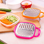 Stainless Steel Grater Food Vegetable Slicer with Container Kitchen (Random Color)