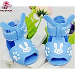 FUN OF PETS® Little Rabbit Pattern Comfortable Plastic Sandal for Pet Dogs(Random Colors Assorted Sizes)
