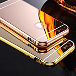 Compatible Solid Color/Metallic//Novelty Bumper Frame Plating Metal Frame Mirror Acrylic Back Cover for IPhone 5S/5