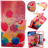 Balloon Pattern with Card Bag Full Body Case for iPhone 4/4S