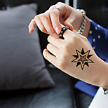 5Pcs Waterproof Luminous Pentacle Pattern Temporary Body Art Tattoo Sticker