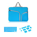Hot Selling Zipper Sleeve bag with Keyboard Cover and Silicone Dust Plug for Macbook Retina 15.4