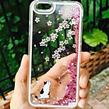 Quicksand Cherry Blossom Cat Black and White Pattern PC Hard Back Case Cover for iPhone 5/5S(Assorted Colors)