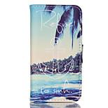 Coconut Island-Stil Muster PU-Leder doppelseitige Telefonkasten für iphone 5/5 s