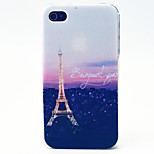 Sunset Tower Pattern TPU Material Phone Case for iPhone 4/4S