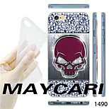 Diamond Skull Pattern Transparent TPU Soft Back Case for iPhone 6