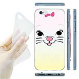 Cartoon Cat Pattern TPU Soft Back Case for iPhone 6
