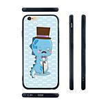 cavalheiro dos desenhos animados padrão de dinossauro de sílica gel transparente borda de volta caso para iphone 6