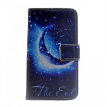 The Last Moon Pattern PU Leather Case Cover With Stand And Card Holder for Huawei P7