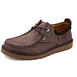 Men's Shoes Casual Leather Oxfords Brown/Gray