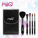 MSQ® 5pcs Makeup Brushes set Goat/Wool hair Travel Rayon Black Powder Brush Foundation brush Shadow/Lip/Brow Brush Makeup Kit Cosmetic Brushes