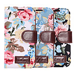 flowers Pattern Cloth Horizontal Flip Magnetic Buckle Leather Case with Card Slots & Holder for One  mini 2