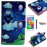 KARZEA™Balloon Owl PU Leather Case with Screen Protector and Stylus and Dust Plug for Samsung Grand Prime G530