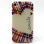 Crayon Love  Pattern TPU Phone Case for iPhone 4/4S