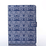 Elephants Pattern PU Leather Full Body Case with Stand for iPad Air/iPad 5