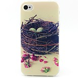Nest Pattern TPU Material Phone Case for iPhone 4/4S