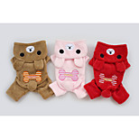 Red/Brown/Pink/Rose Cute Polar Fleece Sweaters/Hoodies For Dogs