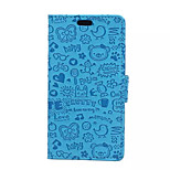 5.0 Inch  Little Witch Pattern PU Wallet Leather Case with Stand for Sony M4 (Assorted Colors)