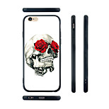 Rose Skull Pattern Transparent Silica Gel Edge Back Case for iPhone 6