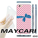 MAYCARI®Blue Ribbon Bowknot Pattern TPU Soft Transparent Back Case for iPhone 6