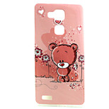 Cartoon Bear  Pattern TPU Soft Case for Huawei Mate 7