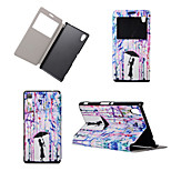 Paint Rain Girl Pattern View Winodw Leather Wallet Flip Cover Case for Sony Xperia M4 Aqua/Sony Xperia C4